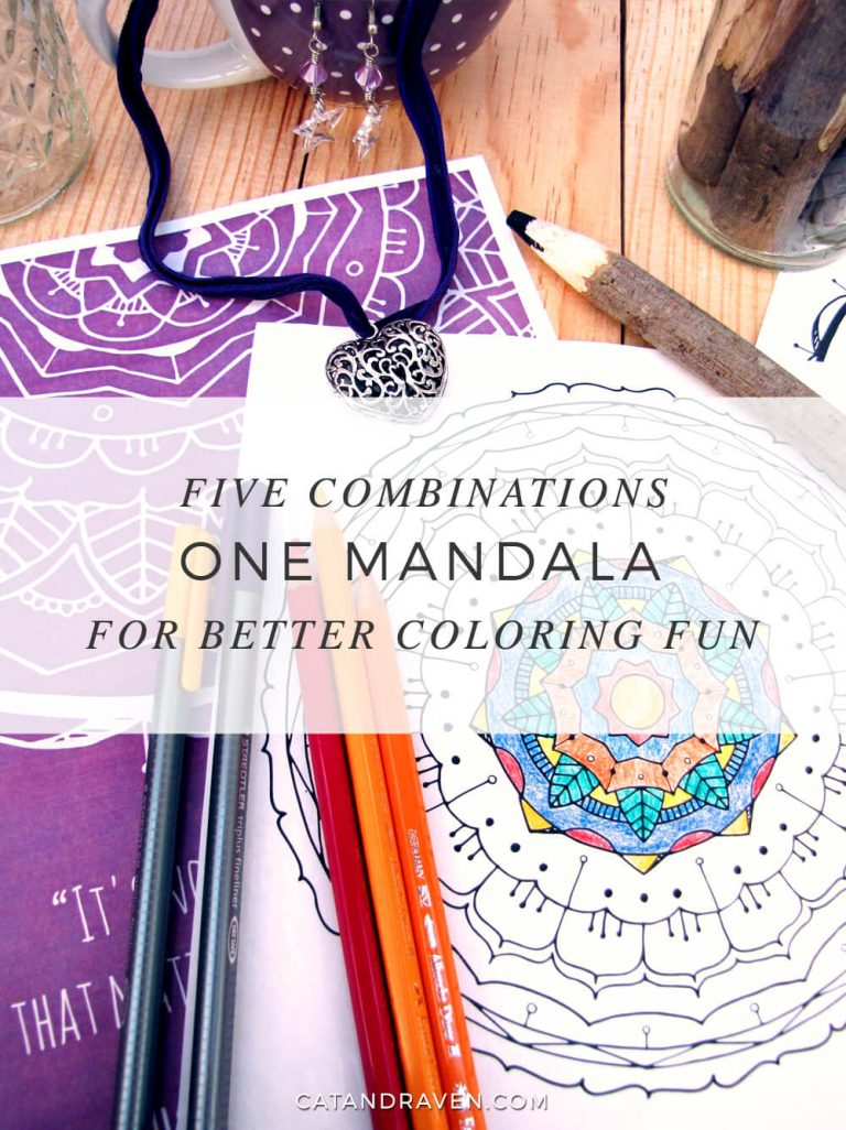 One Mandala, five combinations for better coloring fun