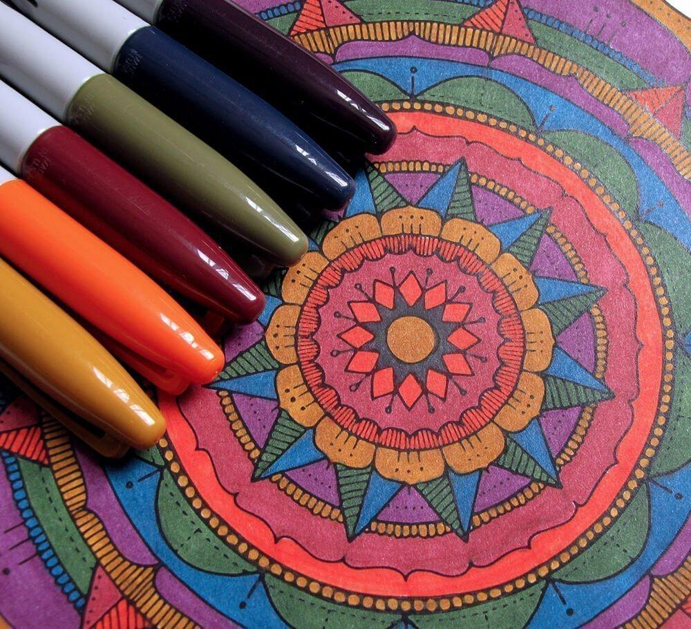 Dark Rainbow Mandala