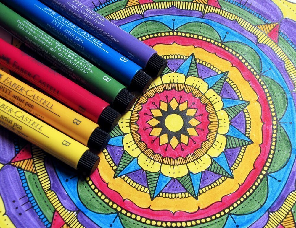 Bright Rainbow Mandala