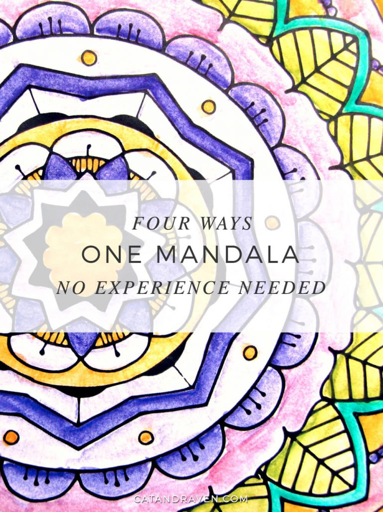 One Mandala, four ways to color