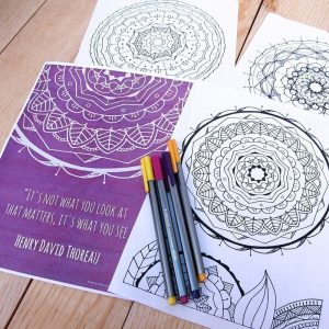 Mandala Coloring Book by catandraven.com