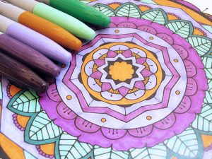 Sharpies with Mandala Coloring page
