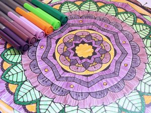 Triplus Fineliners with Mandala Coloring page