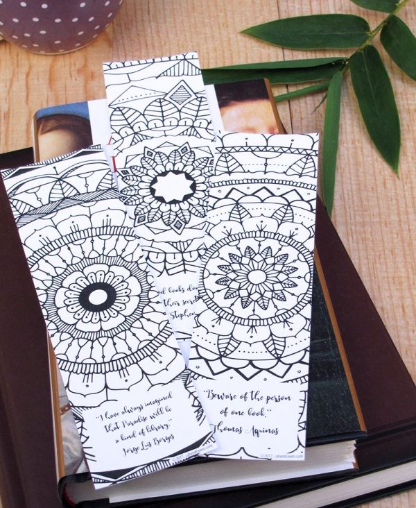 Set of 3 Printable Mandala Bookmarks