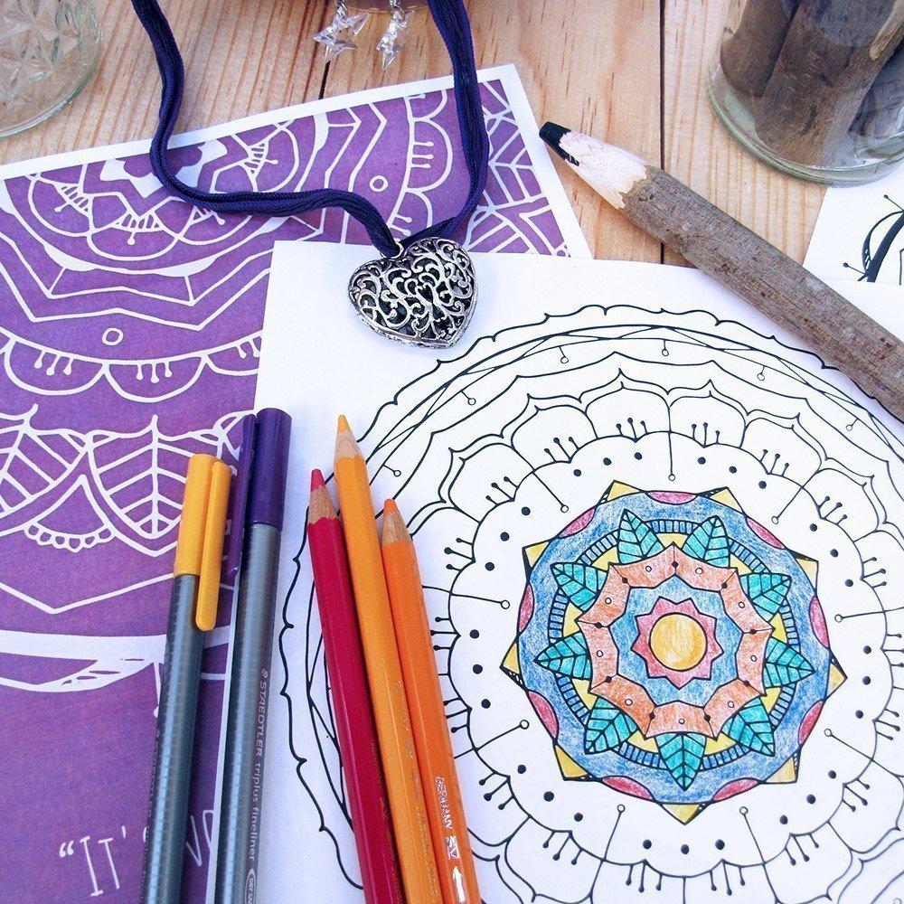 Mandala Coloring Book Pdf Cat Raven