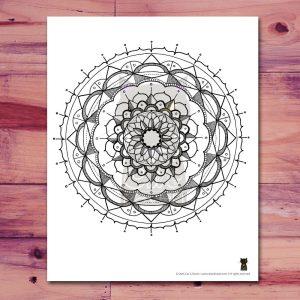 Printable Mandala Page, 1