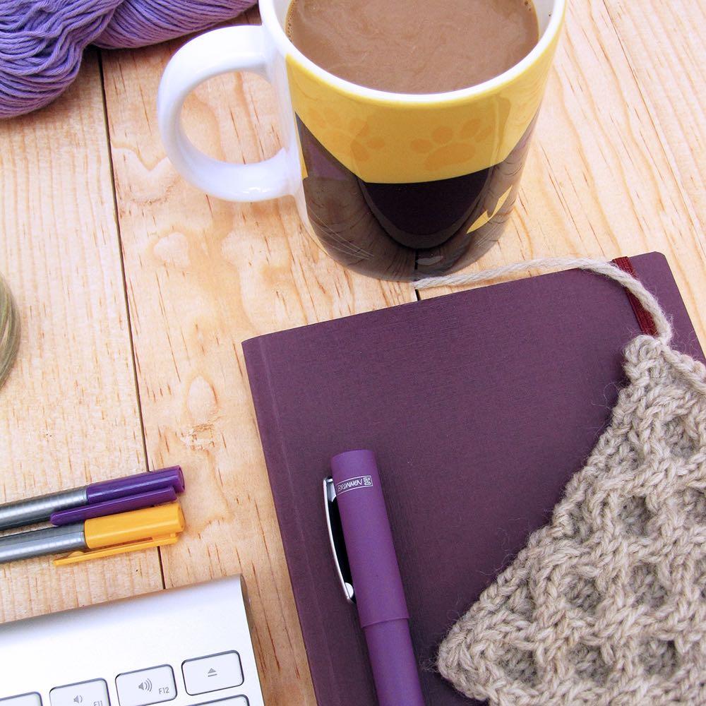 Coffee Mug and Knitting