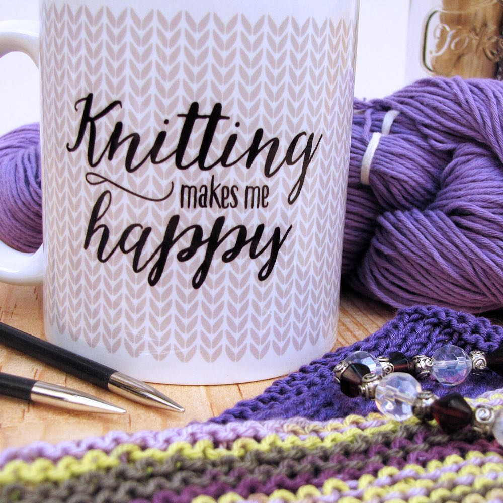 Knitting makes me happy