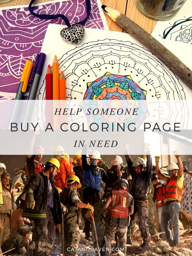Buy a coloring page, help someone in need