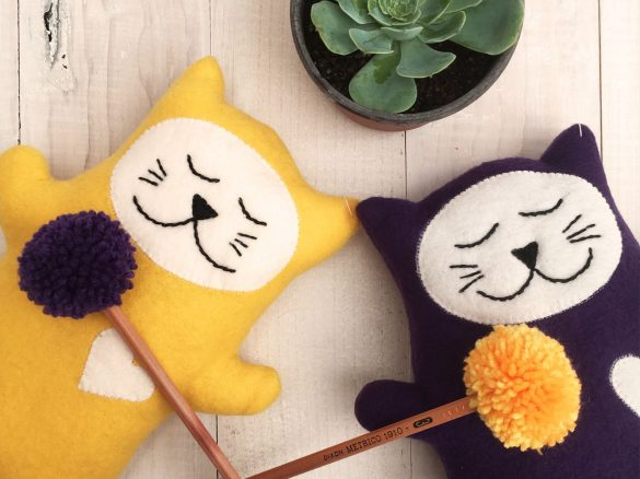 Happy Plushie Cats by Cat & Raven