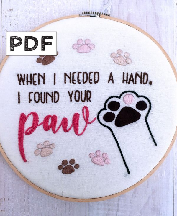 I Found Your Paw PDF Pattern